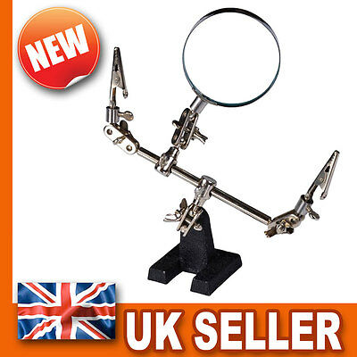 Heavy Duty Third Hand Free Magnifier - Magnifyng Glass - Soldering Vice Clamps