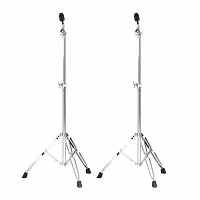 Cymbal Stand 2 Pack - Heavy Duty Double Braced Straight 3 Year Warranty DP Drums