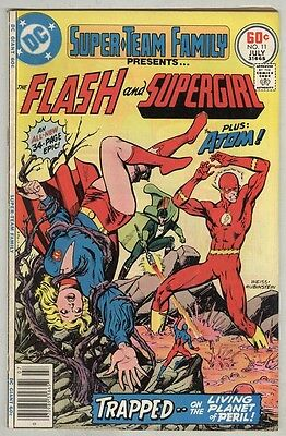 Super Team Family #11 July 1977 VG Flash, Atom, and Supergirl Giant-Size