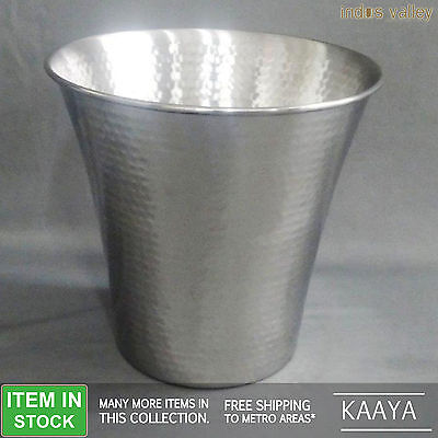 Hammered steel silver champagne ice bucket wine cooler christmas gift chiller
