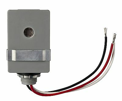 Woods 59410 Outdoor Hardwire Stem-Mount Conduit Light Control with Photocell