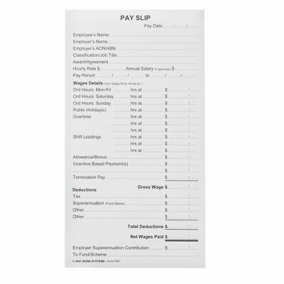 Zions Printed Pay Slip Pads 10 Pack