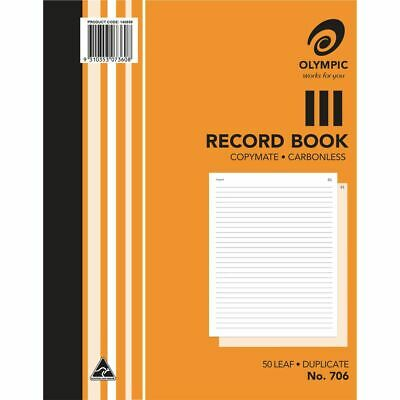 Olympic No.706 Carbonless Duplicate Record Book