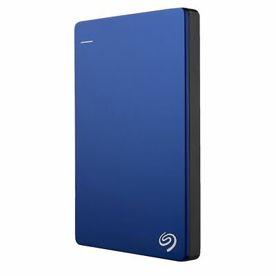 NEW Seagate Hard Drive 2TB Backup Plus Slim External Hard Drive Portable Blue
