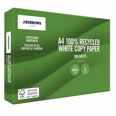 J.Burrows Premium 100% Recycled A4 Paper 500 Sheets