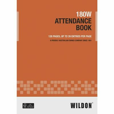 Wildon 180 Attendance Book
