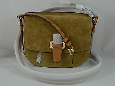 aa5b05ea14b7 Michael Kors 30S6Grum2S Romy Medium Suede Messenger crossbody Msrp  298.00