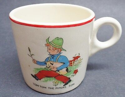 Vintage Lord Nelson Pottery Tom Tom The Pipers Son Child  Mug