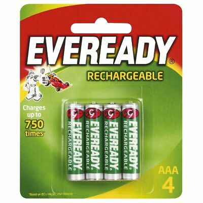 Eveready Rechargeable AAA Batteries 4 Pack