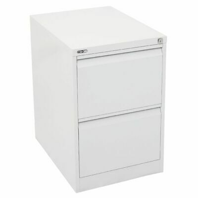 GO 2 Drawer Filing Cabinet White
