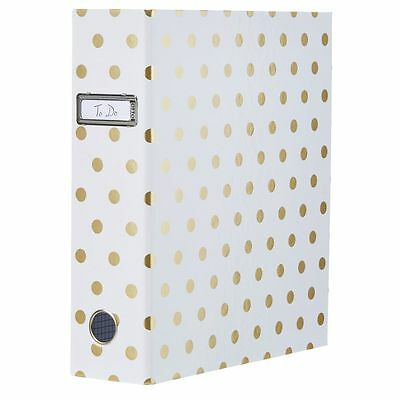 Otto Lever Arch Binder with Printed Spine Gold