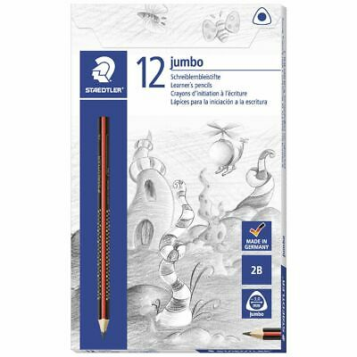 Staedtler Jumbo Triangular Graphite Pencils 2B 12 Pack