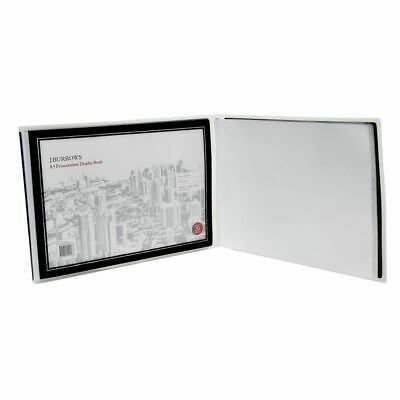 J.Burrows A3 Landscape Display Book with 20 Pockets Black