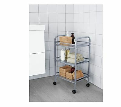 IKEA DRAGGAN kitchen trolley Silver kitchen island, Storage,Bathroom-NEW