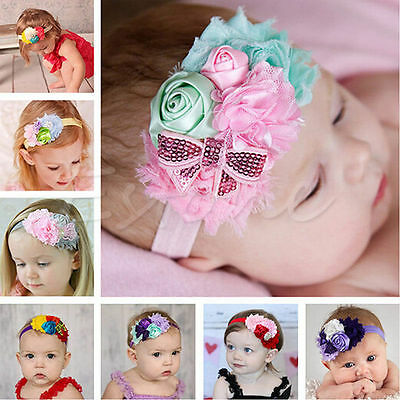 Hot Lace Flower Kids Baby Girl Toddler Headband Hair Band Headwear Accessories