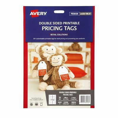Avery Double Sided Printable Pricing Tags 89 x 51mm 50 Pack