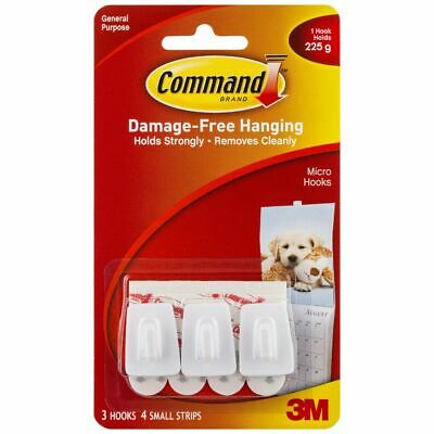 Command Micro Hooks with Mounting Strips 3 Pack