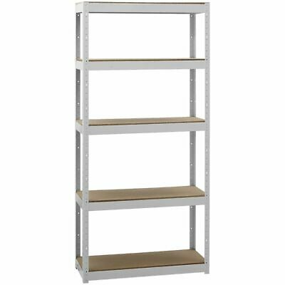 Cobalt 5 Shelf Metal Shelving Unit White