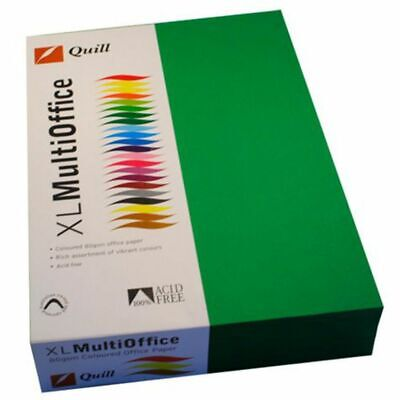 Quill Coloured Paper 80gsm A4 Emerald 500 Sheet Ream