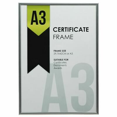 Lifestyle Brands A3 Certificate Frame Silver