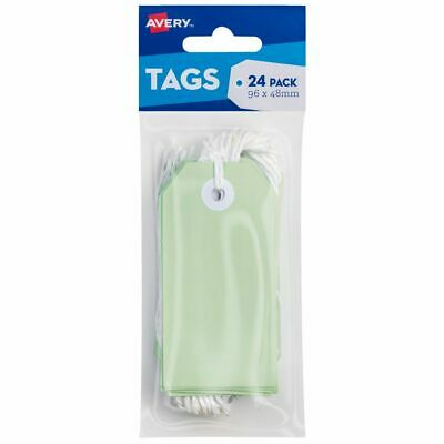 Avery Tag-It with String 96 x 48mm Green 24 Pack