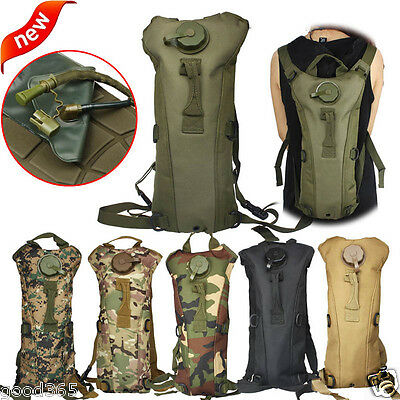 Hydration Water Bag Pouch Backpack Bladder Hiking Camping Climbing Survival 3L