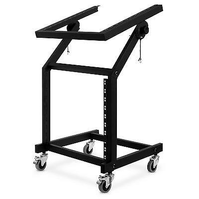 Dj Rack 48Cm 19 Pouces 21U Transport Ampli Mixer Sono Portable Scene Mobile Pro