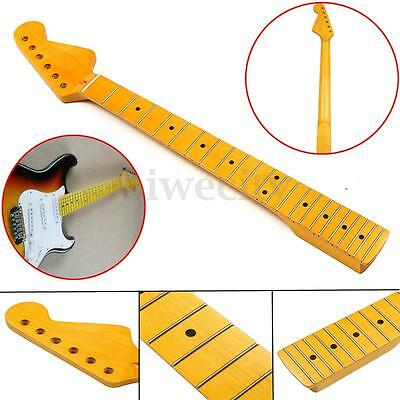 22 Fret Electric Guitar Neck For ST Parts Maple Wood Fretboard Replacement New