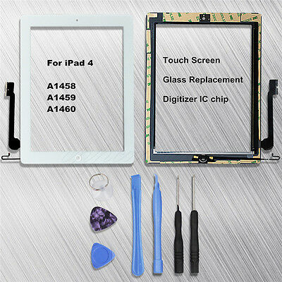 For Ipad 4 A1458 A1459 A1460 Touch Screen Glass Replacement Digitizer IC Chip