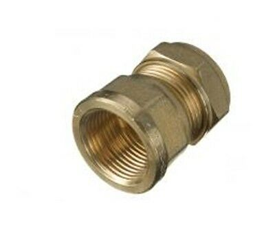 """Compression 15mm Copper to 3/4"""" BSP Brass Female Iron Thread Connector Adapter"""