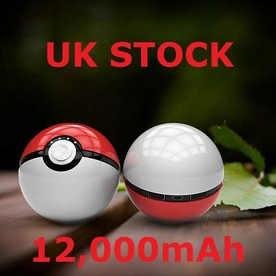 20x Wholesale 12000mAh Pokemon Go Pokeball Portable Phone USB Charger Power Bank