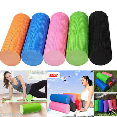 30cm EVA Yoga Pilates Massage Fitness Gym Trigger Point Exercise Foam Roller New