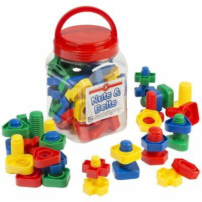 Learning Can Be Fun Nuts and Bolts Jar of 32