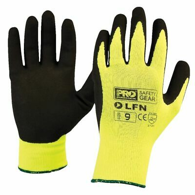ProChoice ProSense Hi Vis Latex Foam Gloves Size 10