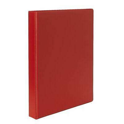 J.Burrows Binder A4 4 D-Ring 25mm Red