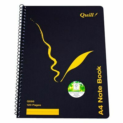 Quill A4 Notebook 120 Page