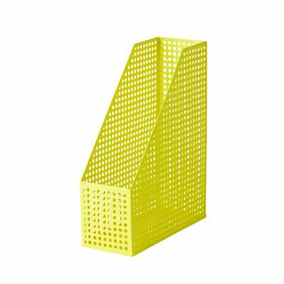 Otto Punched Metal Magazine File Yellow
