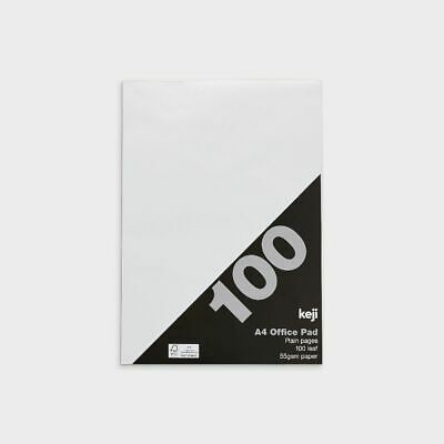 Keji A4 Office Pad Plain 100 Leaf