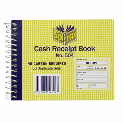 Spirax No. 504 Carbonless Cash Receipt Book