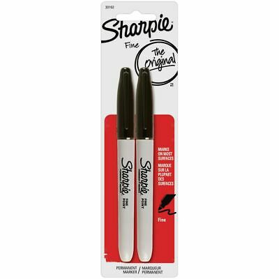 Sharpie Fine Permanent Markers Black 2 Pack