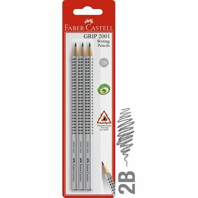 Faber-Castell Triangular Grip Graphite Pencils 2B 3 Pack