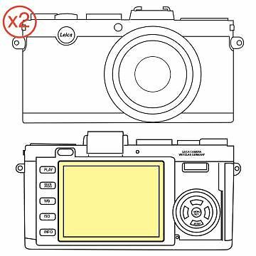 Martin Fields Overlay Plus Screen Protector (Leica X-E) Twin Pack