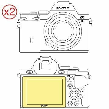 Martin Fields Overlay Plus Screen Protector (Sony A7S/A7R) Twin Pack