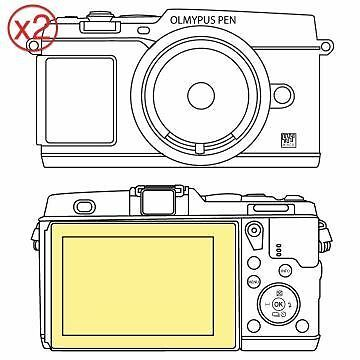 Martin Fields Overlay Plus Screen Protector (Olympus PEN E-P5) Twin Pack