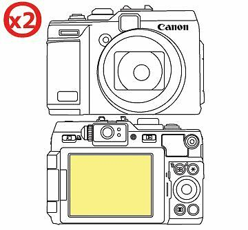 Martin Fields Overlay Plus Screen Protector (Canon Powershot G1X) Twin Pack
