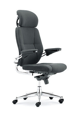 Canyon High Back Executive Office Chair With Chrome Base by Eliza Tinsley