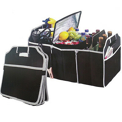 Car Collapsible Boot Organizer Space Saving Auto Trunk Storage Box Fast Pin