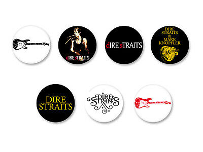 Lot Pack Badge Button Ø25mm Dire Straits Rock UK Knopfler