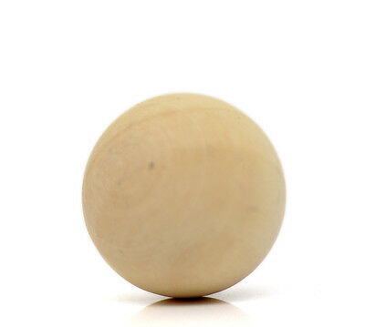 New Natural Wood Round Ball Hardwood Solid Ball No Hole Crafts Making 20mm-50mm