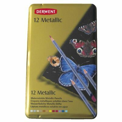 Derwent Metallic Pencils 12 Pack